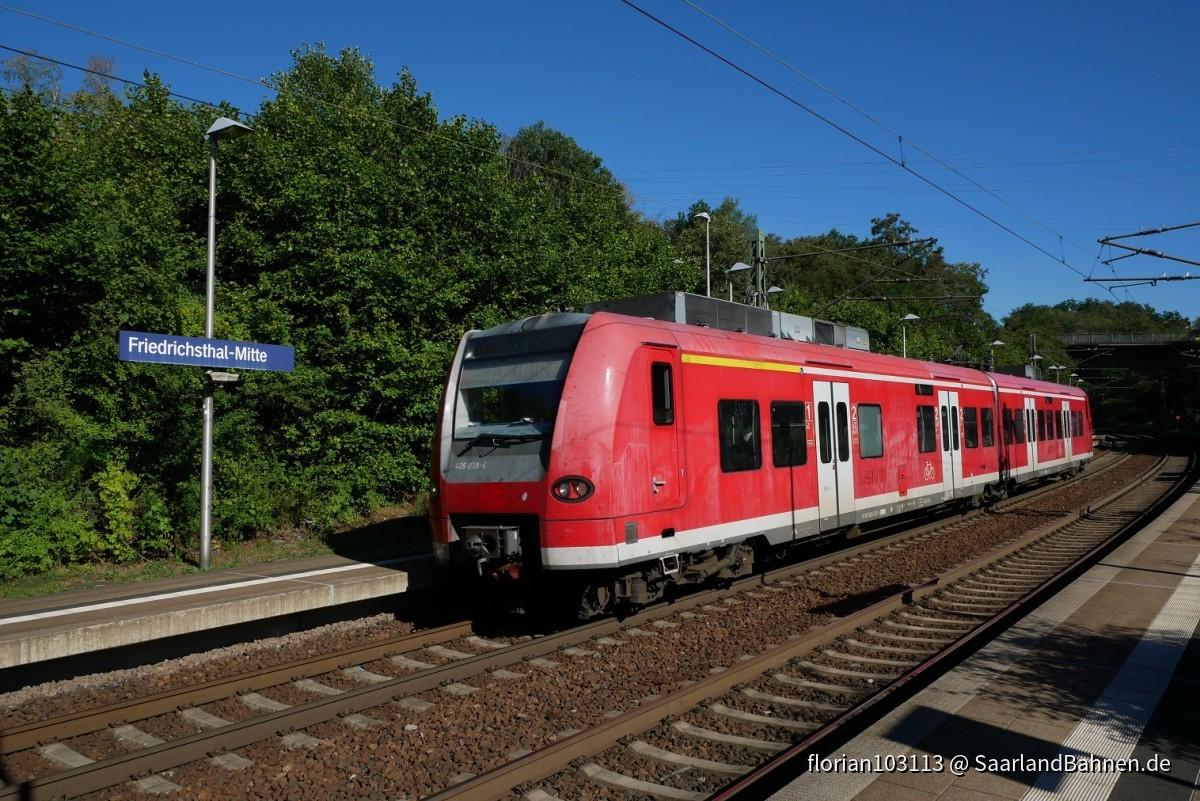 426 038 am 31.7.20 in Friedrichsthal-Mitte