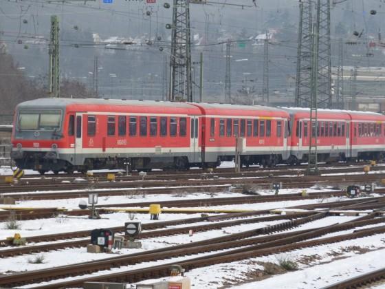 628 466 und 479 am 16.1.20 im winterlichen Saarbrücker Hbf.