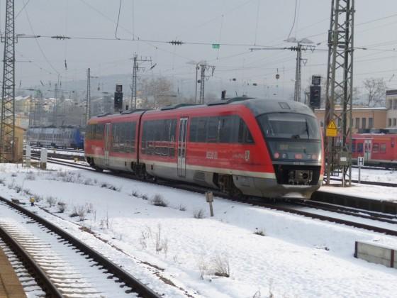 642 180 am 16.1.20 im winterlichen Saarbrücker Hbf.