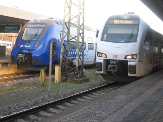 Moderner Nahverkehr im HBF Saarbrücken