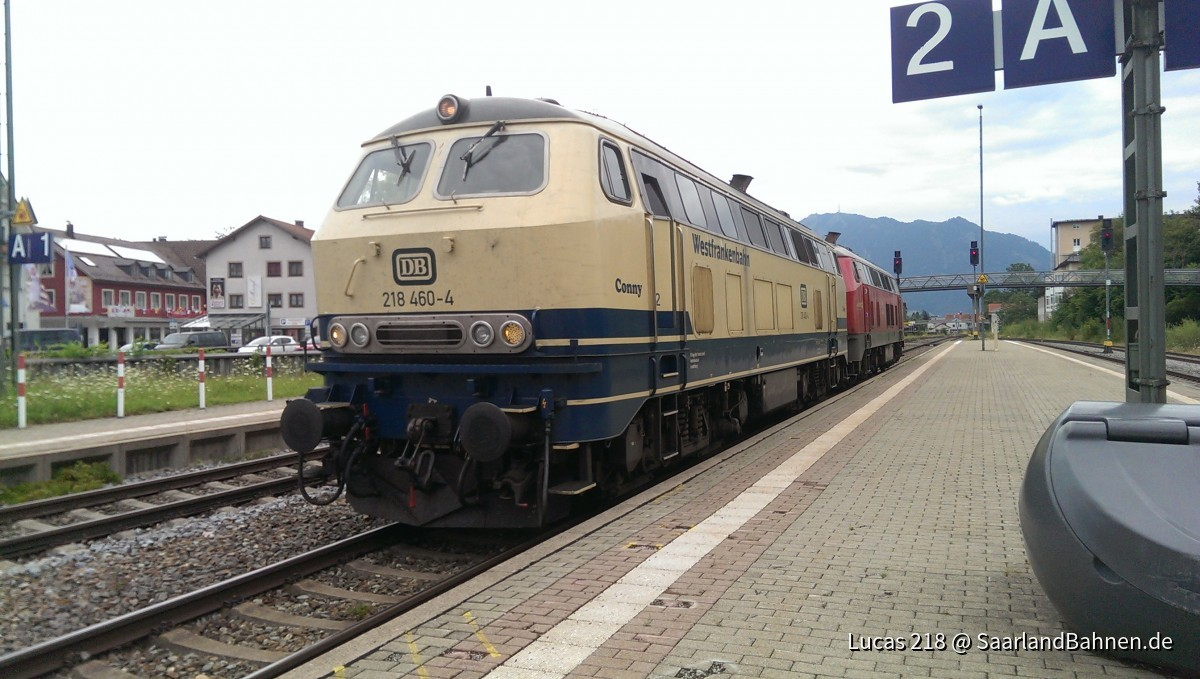 """BR 218 460-6 """"Conny"""" in Immenstadt !"""