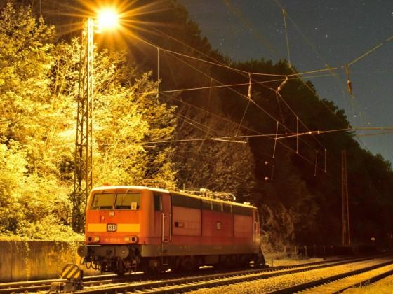 """Die """"Saar"""" 181 213 unter Sternenhimmel in Jägersfreude, 22.04.2020"""